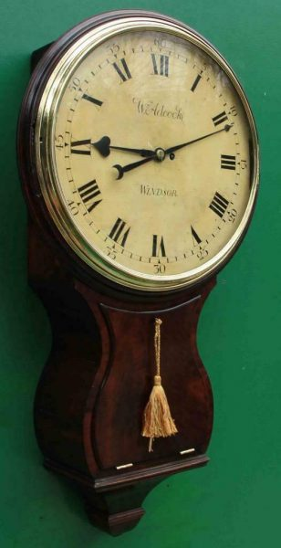 1775c-WADCOCK-WINDSOR-ENGLISH-BOMBE-MAHOGANY-8-DAY-FUSEE-18-WOODEN-DIAL-CLOCK-283538338710-2