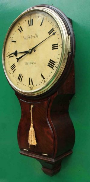 1775c-WADCOCK-WINDSOR-ENGLISH-BOMBE-MAHOGANY-8-DAY-FUSEE-18-WOODEN-DIAL-CLOCK-283538338710-3