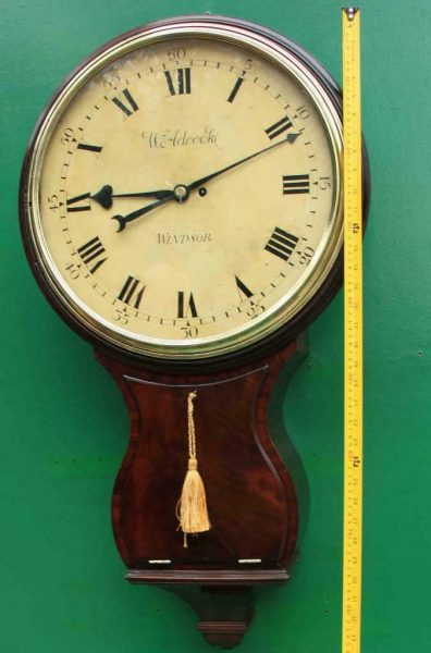 1775c-WADCOCK-WINDSOR-ENGLISH-BOMBE-MAHOGANY-8-DAY-FUSEE-18-WOODEN-DIAL-CLOCK-283538338710-4