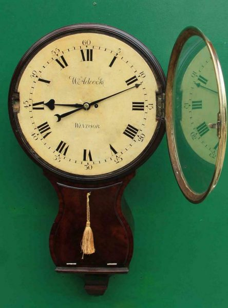 1775c-WADCOCK-WINDSOR-ENGLISH-BOMBE-MAHOGANY-8-DAY-FUSEE-18-WOODEN-DIAL-CLOCK-283538338710-5
