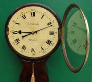 1775c-WADCOCK-WINDSOR-ENGLISH-BOMBE-MAHOGANY-8-DAY-FUSEE-18-WOODEN-DIAL-CLOCK-283538338710-6