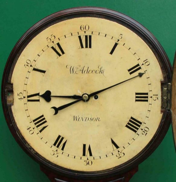 1775c-WADCOCK-WINDSOR-ENGLISH-BOMBE-MAHOGANY-8-DAY-FUSEE-18-WOODEN-DIAL-CLOCK-283538338710-7