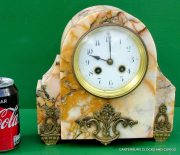 ART-DECO-FRENCH-8-DAY-TWO-TRAIN-MARBLE-GARNITURE-CLOCK-SET-282542779920-12