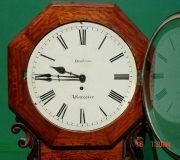 HODSON-WORCESTER-ANTIQUE-ENGLISH-8-DAY-MAHOGANY-FUSEE-SCHOOL-DROPDIAL-CLOCK-283600433040-2