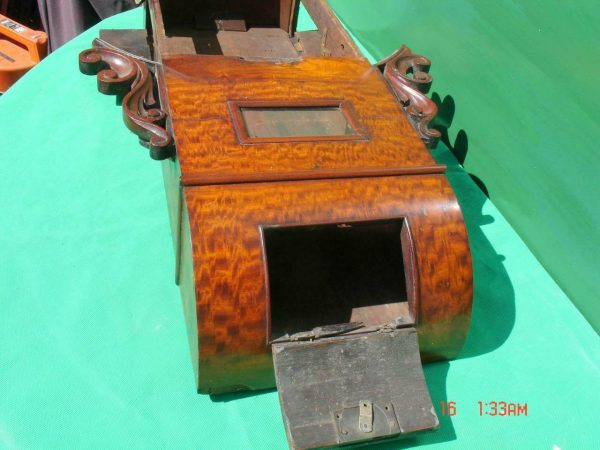HODSON-WORCESTER-ANTIQUE-ENGLISH-8-DAY-MAHOGANY-FUSEE-SCHOOL-DROPDIAL-CLOCK-283600433040-5