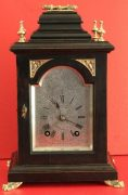 LENZKIRCH-ANTIQUE-GERMAN-8-DAY-SILVERED-ARCH-DIAL-EBONISED-BRACKET-CLOCK-283324735420