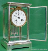 TIFFANY-COART-DECO-FRENCH-JAPY-FRERES-8-DAY-FOUR-GLASS-CRYSTAL-REGULATOR-CLOCK-283410867670-5