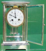 TIFFANY-COART-DECO-FRENCH-JAPY-FRERES-8-DAY-FOUR-GLASS-CRYSTAL-REGULATOR-CLOCK-283410867670-6