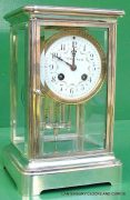 TIFFANY-COART-DECO-FRENCH-JAPY-FRERES-8-DAY-FOUR-GLASS-CRYSTAL-REGULATOR-CLOCK-283410867670-7