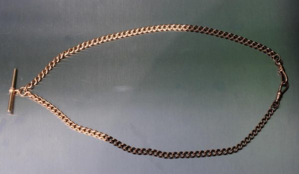 ANTIQUE-9ct-ROSE-GOLD-GENTS-DOUBLE-ALBERT-POCKET-WATCH-CHAIN-FULLY-HALLMARKED-283118320361-2