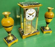 CLASSIC-FRENCH-ART-DECO-8-DAY-SIENNA-AND-PORTORO-MARBLE-GARNITURE-CLOCK-SET-283604953401-2