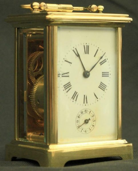 COUILLETT-FRERES-ANTIQUE-FRENCH-8-DAY-ALARM-CARRIAGE-CLOCK-283569626121-3
