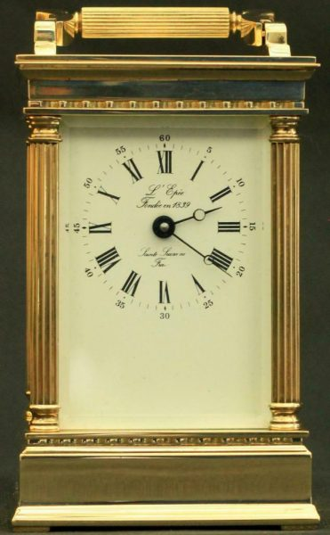 LEPEE-FRENCH-VINTAGE-8-DAY-CORINTHIAN-PILLAR-CARRIAGE-CLOCK-283569572521-11