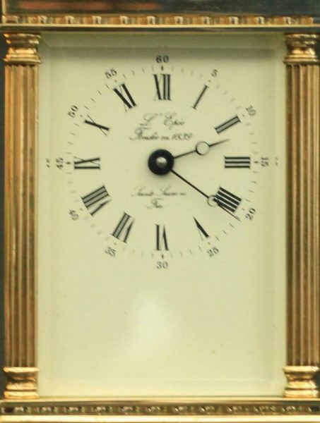 LEPEE-FRENCH-VINTAGE-8-DAY-CORINTHIAN-PILLAR-CARRIAGE-CLOCK-283569572521-2