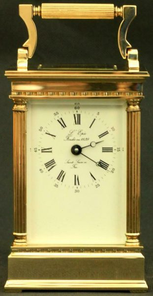 LEPEE-FRENCH-VINTAGE-8-DAY-CORINTHIAN-PILLAR-CARRIAGE-CLOCK-283569572521