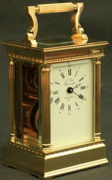 LEPEE-FRENCH-VINTAGE-8-DAY-CORINTHIAN-PILLAR-CARRIAGE-CLOCK-283569572521-4