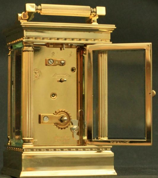 LEPEE-FRENCH-VINTAGE-8-DAY-CORINTHIAN-PILLAR-CARRIAGE-CLOCK-283569572521-8