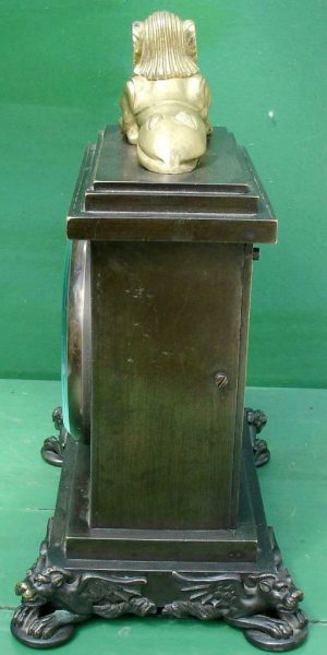 ANTIQUE-ENGLISH-HEARN-LONDON-EGYPTIAN-REVIVAL-8-DAY-FUSEE-BRONZE-TABLE-CLOCK-283569554952-4