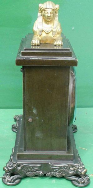 ANTIQUE-ENGLISH-HEARN-LONDON-EGYPTIAN-REVIVAL-8-DAY-FUSEE-BRONZE-TABLE-CLOCK-283569554952-5