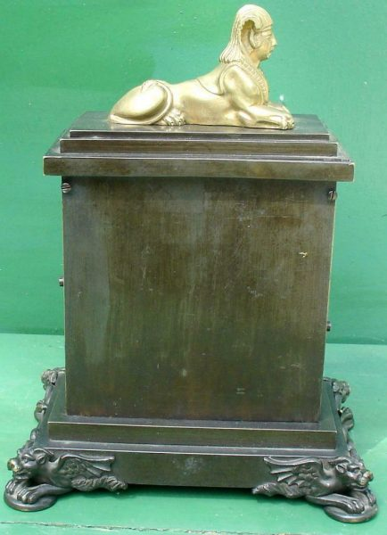 ANTIQUE-ENGLISH-HEARN-LONDON-EGYPTIAN-REVIVAL-8-DAY-FUSEE-BRONZE-TABLE-CLOCK-283569554952-6