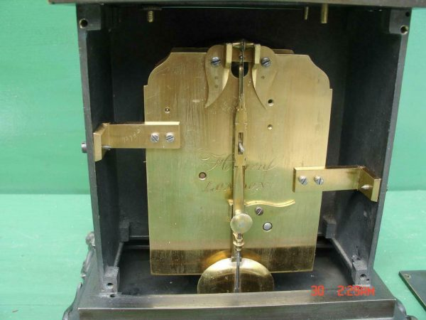 ANTIQUE-ENGLISH-HEARN-LONDON-EGYPTIAN-REVIVAL-8-DAY-FUSEE-BRONZE-TABLE-CLOCK-283569554952-7