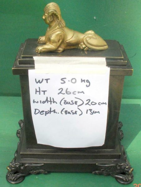ANTIQUE-ENGLISH-HEARN-LONDON-EGYPTIAN-REVIVAL-8-DAY-FUSEE-BRONZE-TABLE-CLOCK-283569554952-8