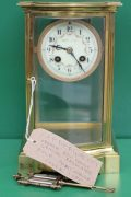 FRENCH-ANTIQUE-BOW-FRONT-CRYSTAL-REGULATER-FOUR-GLASS-MANTLE-CLOCK-CIRCA-1880-283116972442-11