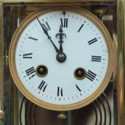 ANTIQUE-FRENCH-ORNATE-SERPENTINE-CRYSTAL-REGULATOR-MANTLE-CLOCK-SIGNED-BY-HH-283351356763-2