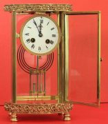 ANTIQUE-FRENCH-ORNATE-SERPENTINE-CRYSTAL-REGULATOR-MANTLE-CLOCK-SIGNED-BY-HH-283351356763-4