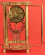 ANTIQUE-FRENCH-ORNATE-SERPENTINE-CRYSTAL-REGULATOR-MANTLE-CLOCK-SIGNED-BY-HH-283351356763-6