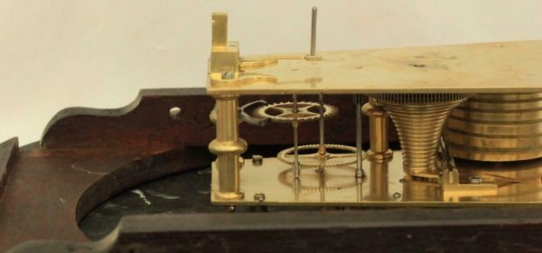 EARLY-ENGLISH-GEORGIAN-8-DAY-FUSEE-14-DIAL-CLOCK-W-J-VICKERS-13-CROOKED-LANE-283401136303-11