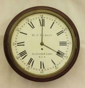 EARLY-ENGLISH-GEORGIAN-8-DAY-FUSEE-14-DIAL-CLOCK-W-J-VICKERS-13-CROOKED-LANE-283401136303