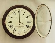 EARLY-ENGLISH-GEORGIAN-8-DAY-FUSEE-14-DIAL-CLOCK-W-J-VICKERS-13-CROOKED-LANE-283401136303-2