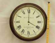 EARLY-ENGLISH-GEORGIAN-8-DAY-FUSEE-14-DIAL-CLOCK-W-J-VICKERS-13-CROOKED-LANE-283401136303-4