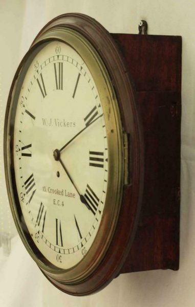 EARLY-ENGLISH-GEORGIAN-8-DAY-FUSEE-14-DIAL-CLOCK-W-J-VICKERS-13-CROOKED-LANE-283401136303-6
