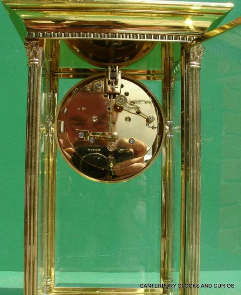 LEPEE-VINTAGE-FRENCH-8-DAY-FOUR-GLASS-CRYSTAL-REGULATOR-MANTLE-TABLE-CLOCK-10kg-283567406933-10