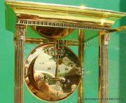 LEPEE-VINTAGE-FRENCH-8-DAY-FOUR-GLASS-CRYSTAL-REGULATOR-MANTLE-TABLE-CLOCK-10kg-283567406933-11