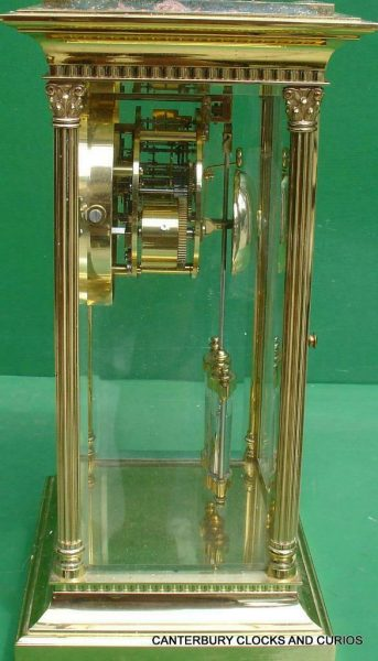 LEPEE-VINTAGE-FRENCH-8-DAY-FOUR-GLASS-CRYSTAL-REGULATOR-MANTLE-TABLE-CLOCK-10kg-283567406933-6