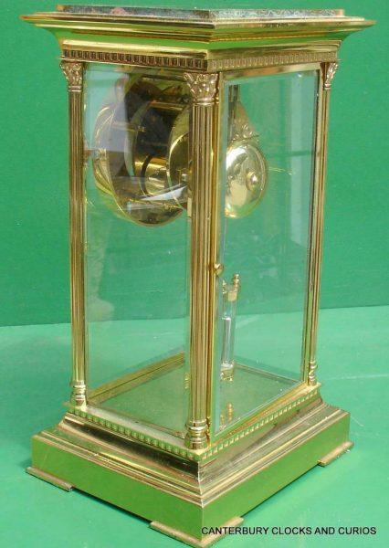 LEPEE-VINTAGE-FRENCH-8-DAY-FOUR-GLASS-CRYSTAL-REGULATOR-MANTLE-TABLE-CLOCK-10kg-283567406933-7
