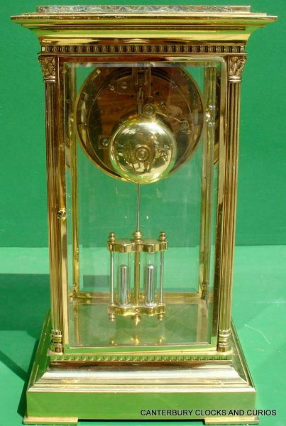 LEPEE-VINTAGE-FRENCH-8-DAY-FOUR-GLASS-CRYSTAL-REGULATOR-MANTLE-TABLE-CLOCK-10kg-283567406933-8
