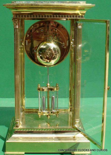 LEPEE-VINTAGE-FRENCH-8-DAY-FOUR-GLASS-CRYSTAL-REGULATOR-MANTLE-TABLE-CLOCK-10kg-283567406933-9