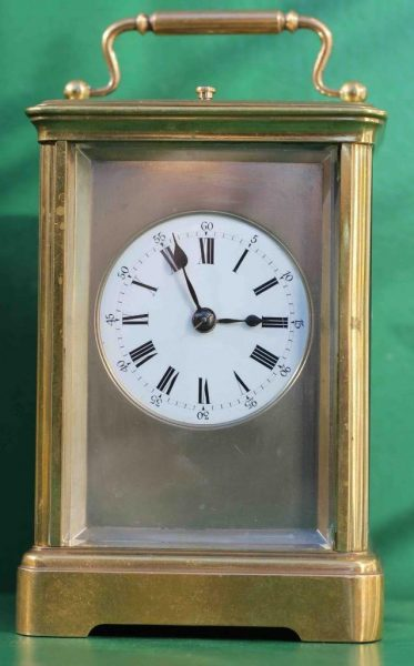 ANTIQUE-FRENCH-8-DAY-REPEATER-WITH-SILVERED-MASK-DIAL-CARRIAGE-CLOCK-283284351704