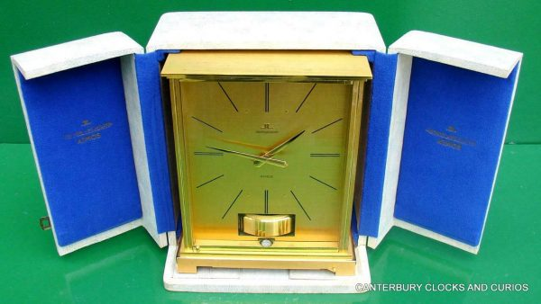 JAEGER-LECOULTRE-VINTAGE-BURGANDY-EMBASSY-ATMOS-CLOCK-ORIGINAL-BOX-SERVICED-283371557844