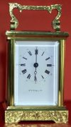LEPEE-VINTAGE-FRENCH-8-DAY-TIMEPIECE-CARRIAGE-CLOCK-HAND-ENGRAVED-SCROLL-WORK-283324891344