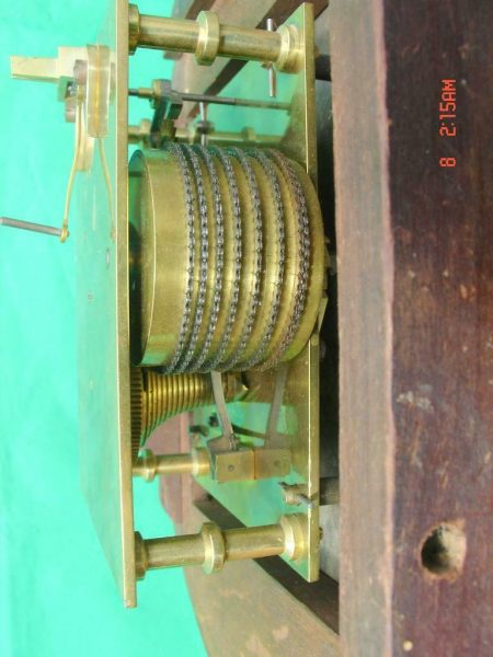 THWAITES-REED-NORTH-LONDON-RAILWAY-8-DAY-FUSEE-DIAL-CLOCK-13886-283637210634-11