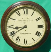 THWAITES-REED-NORTH-LONDON-RAILWAY-8-DAY-FUSEE-DIAL-CLOCK-13886-283637210634