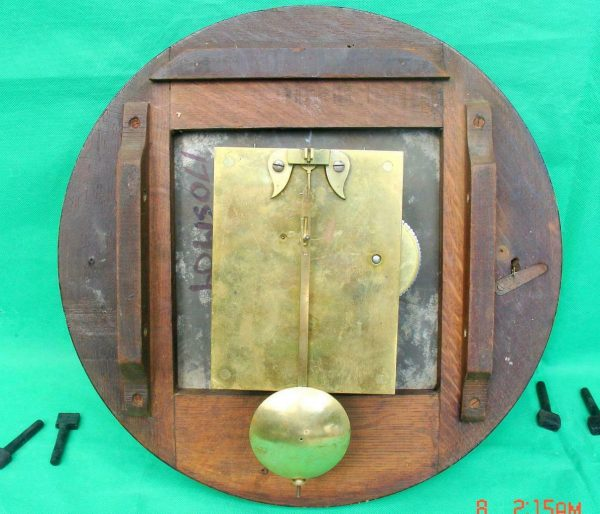 THWAITES-REED-NORTH-LONDON-RAILWAY-8-DAY-FUSEE-DIAL-CLOCK-13886-283637210634-9