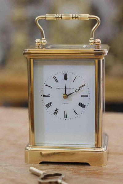 VINTAGE-SWISS-MATHEW-NORMAN-8-DAY-TIME-PIECE-GRANDE-CORNICHE-CARRIAGE-CLOCK-283194432424
