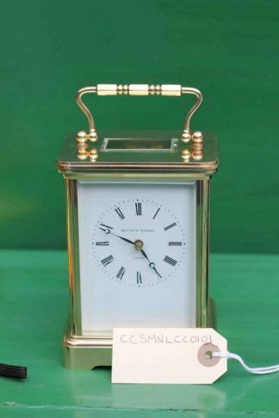 VINTAGE-SWISS-MATHEW-NORMAN-8-DAY-TIME-PIECE-GRANDE-CORNICHE-CARRIAGE-CLOCK-283194432424-8