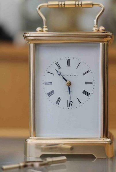 VINTAGE-SWISS-MATHEW-NORMAN-8-DAY-TIME-PIECE-GRANDE-CORNICHE-CARRIAGE-CLOCK-283194432424-9